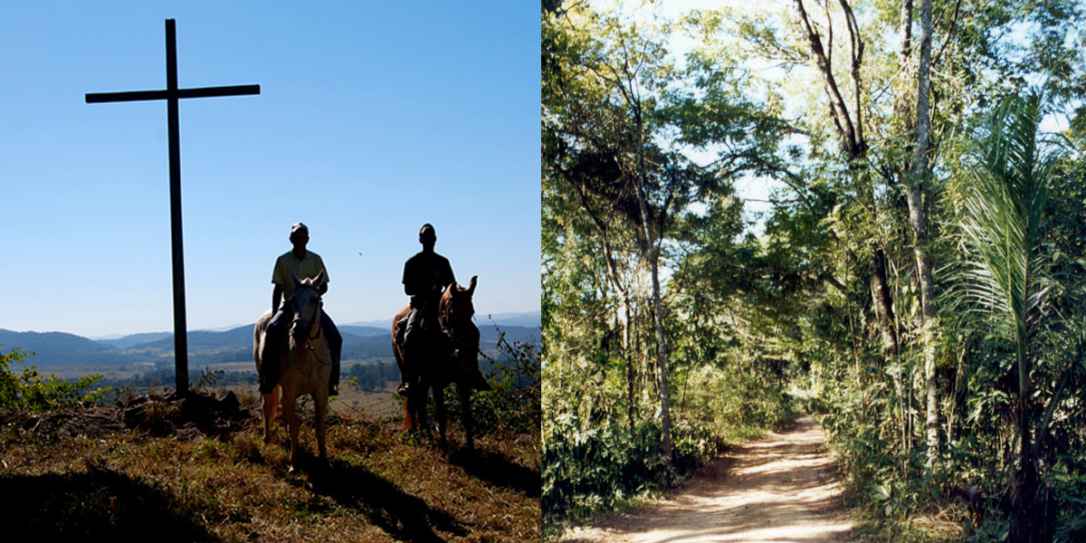Passeio a cavalo no Hotel Fazenda Boa Esperança