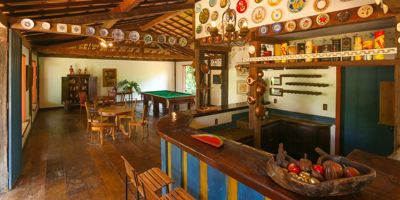 Salão de jogos do Hotel Fazenda Boa Esperança