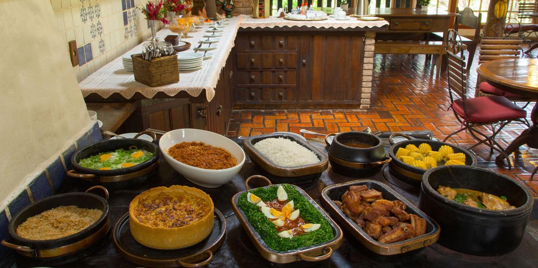 sabores da comida mineira no Hotel Fazenda Boa Esperança