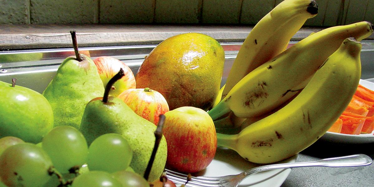 Frutas no café da manhã do Hotel Fazenda Boa Esperança
